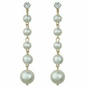 Pearl & Rhinestone Long Dangle Earrings